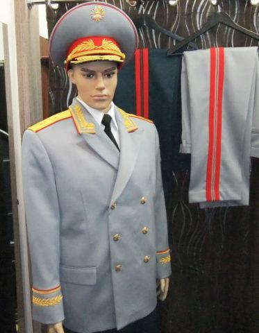Пошив генеральской формы в Таджикистан